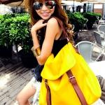 กระเป๋าสะพาย ยี่ห้อ Socool รหัส B1462 สีเหลือง