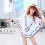 Florally Embroidery Blouse (สีขาว)