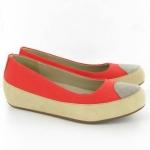 สินค้าพร้อมส่ง : รองเท้า FitFlop Due Canvas Ballet Flat Shoes - Hibiscus