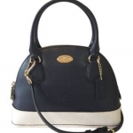กระเป๋า COACH F34517 IMVDF ColorBlock Crossgrain Leather Mini Cora Domed Satchel Crossbody