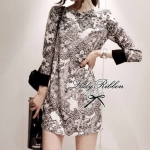 Lady Amelia, Vintage Print Mini dress