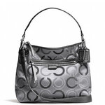 สินค้าอยู่ USA : กระเป๋า COACH Daisy Dot Convertible Hobo Grey Crossbody Shoulder Bag Purse F29124E