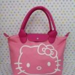 กระเป๋าถือหูหิ้ว คิตตี้ kitty-2 ทรง LC ขนาด กว้าง 14 ซม. * ยาว 35 ซม. * สูง 22 ซม. สีชมพูอ่อน ลายหน้าคิตตี้โบว์