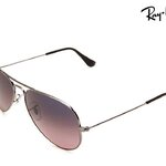 แว่นตา Ray Ban RB3025 Aviator Sunglasses 58 mm. Gunmetal frame Pink Polarized lens