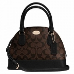 กระเป๋า COACH F34083 IMAA8 Signature MINI CORA Dome Satchel Handbag Purse Shoulder Bag