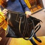 กระเป๋าแฟชั่น สะพายข้าง HJ-B001 สีดำ