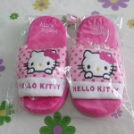 รองเท้าใส่ในบ้าน ออฟฟิศ คิตตี้ kitty-4 ขนาด free size ลายหน้าคิตตี้โบว์ชมพูจุดชมพู