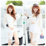 Florally Lace Outer (สีขาว)