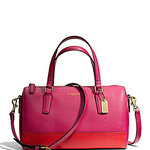 กระเป๋า COACH SAFFIANO MINI SATCHEL IN COLORBLOCK LEATHER 49786