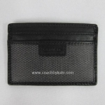 ที่ใส่ id card Coach Men's Heritage Web Leather Slim Card Case Wallet F74375 Black