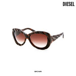 แว่นตา Diesel Women's Sleek & Chic Sunglasses Brown