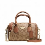กระเป๋า COACH F35232 BABY BENNETT MINI SATCHEL SIGNATURE KHAKI/SADDLE