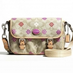 สินค้าอยู่ USA กระเป๋า COACH PEYTON SIGNATURE CROSSBODY CANVAS CLOVER MESSENGER BAG F48828