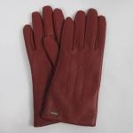 ถุงมือหนัง Coach F85156 SV/RD Park Leather Turnlock Gloves