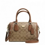 กระเป๋า COACH F34084 IMBDX Signature Mini Bennett Satchel Brown/Black