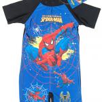 ชุดว่ายน้ำบอดี้สูท Spiderman สีน้ำเงิน