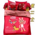 Pre-Order ♥ ผ้าปูที่นอนลาย paul frank ลิงอ้าปากสีแดง ♥