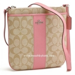 กระเป๋า COACH F52856 SIGPK SIGNATURE PVC LEATHER NS CROSSBODY SHOULDER