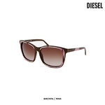 แว่นตา Diesel Women's Sleek & Chic Sunglasses Brown & Pink