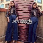 Self-Portrait Black Lace and Electric Blue Jumpsuit