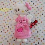 กระเป๋าใส่ดินสอปากกา คิตตี้ kitty ขนาดยาว 26 ซม. * สูง ซม. ด้านบนมีช่องซิป 1 ช่อง