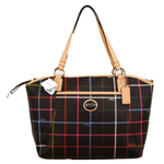 กระเป๋า Coach F24390 Peyton Tattersall Pocket Tote Crossbody Bag SV/Multicolor
