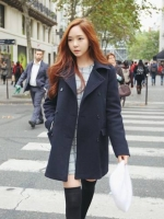 Pre Order เสื้อโค้ทยาวผ้าขนสัตว์ ดีไซน์กระดุม2แถว คอปก ผ้าหนา สไตล์สาวเกาหลี มี3สี