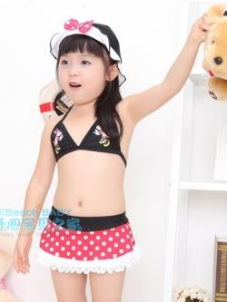 SD2101 ชุดว่ายน้ำเด็ก ทูพีช เซ็ท 3 ชิ้น มินนี่เม้าส์ เกิร์ล [พร้อมส่ง]