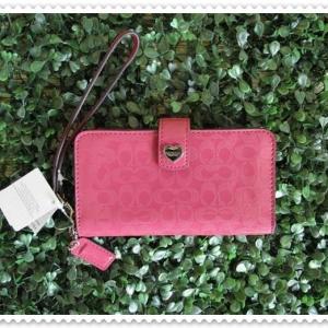 กระเป๋าสตางค์ Coach F51822 SV/FX ใส่สมาร์ทโฟนขนาด iPhone 4-5