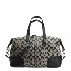 กระเป๋า COACH HADLEY SIGNATURE ZIP SATCHEL STYLE: F31841 SBWBK