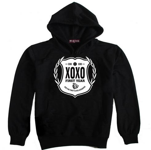 เสื้อกันหนาวฮู๊ด EXO XOXO