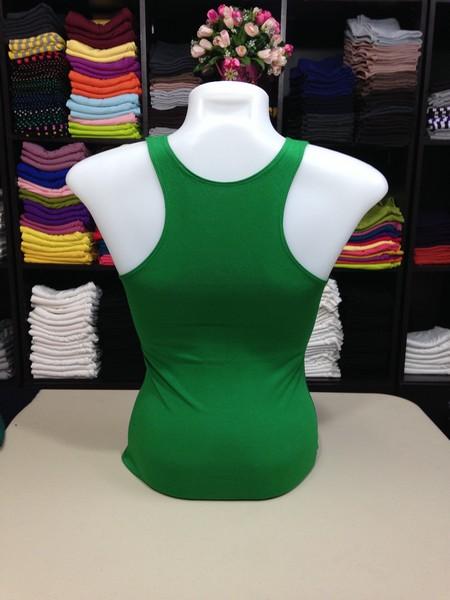 เสื้อกล้ามหลังสปอร์ต สีเขียวสด