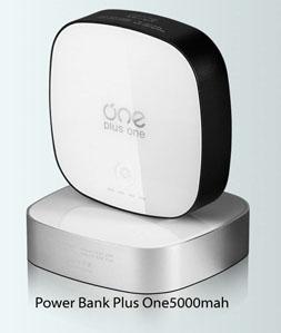แบตสำรอง Beyond Power Bank Plus One 5000 mAh สีเงินblack