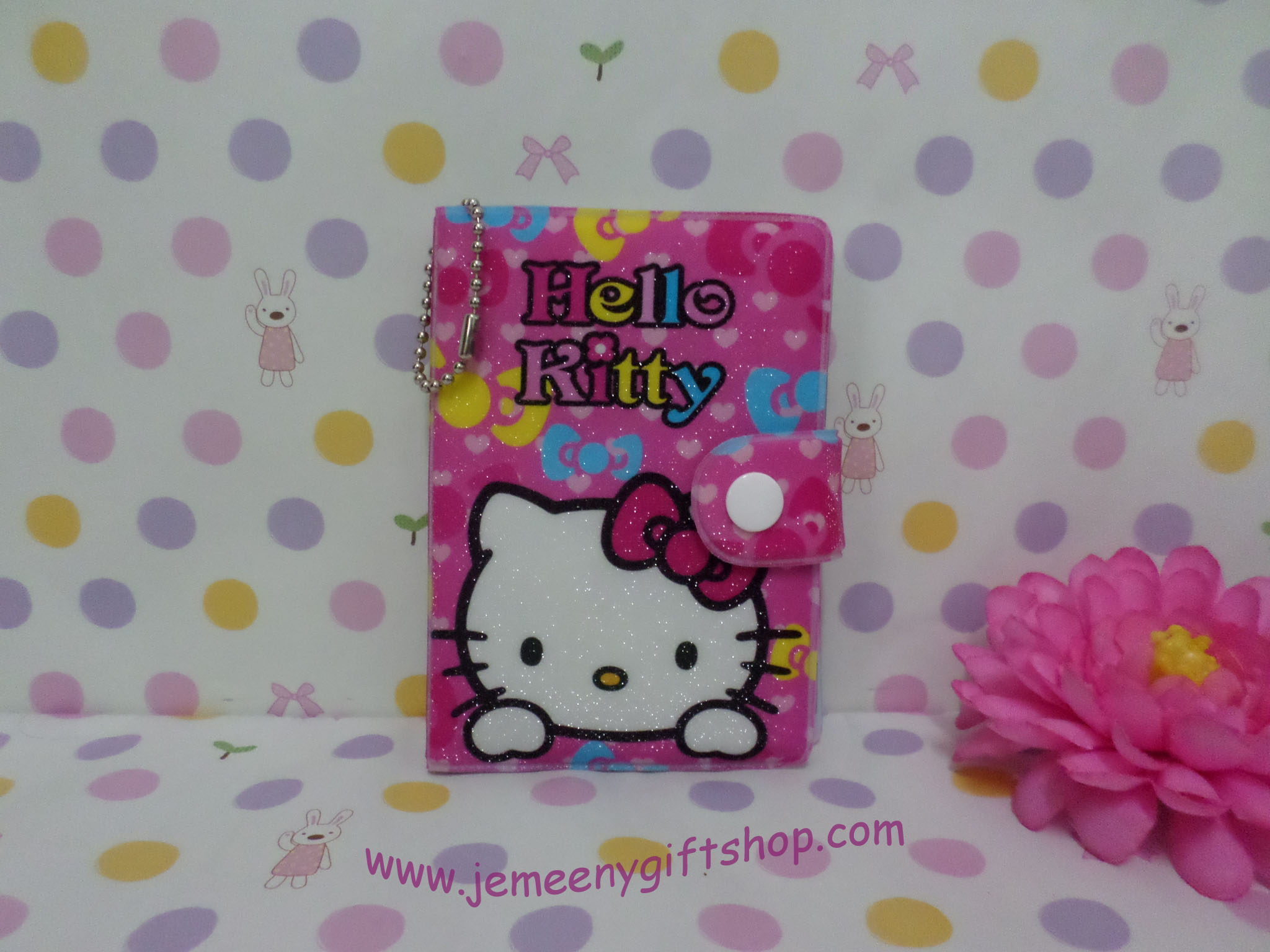 กระเป๋าใส่บัตรเครดิต นามบัตร บัตรต่างๆ ฮัลโหลคิตตี้ Hello kitty#4 ขนาด 7.5 ซม. * 11 ซม. ลายฮัลโลคิตตี้ สีชมพู