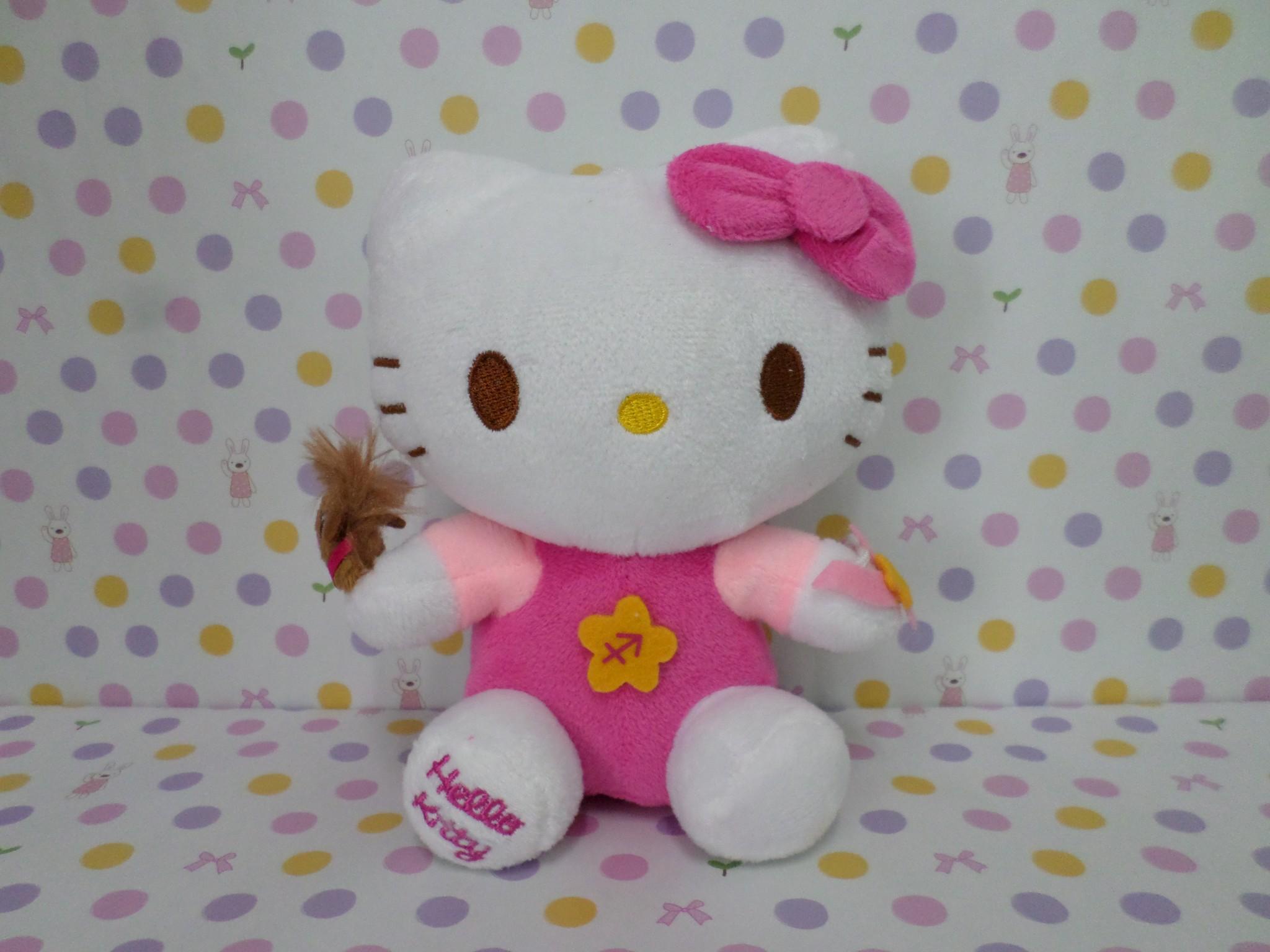 ตุ๊กตาฮัลโหลคิตตี้ Hello kitty#3 ขนาดสูง 7 นิ้ว มีจุ๊บติดกระจก