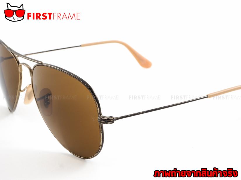 แว่นกันแดด RayBan RB3025 177/33 AVIATOR DISTRESSED4