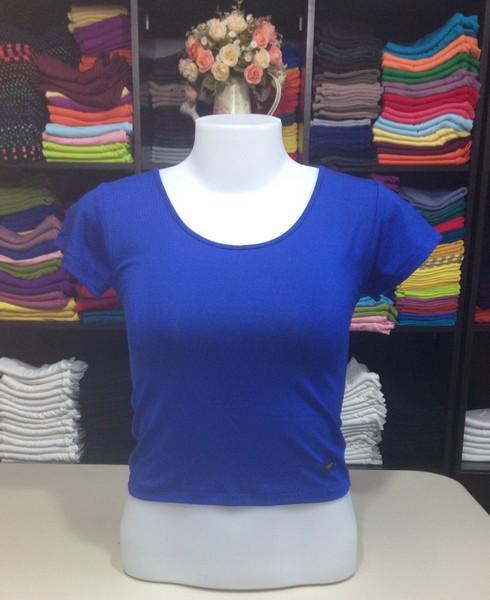 เสื้อยืดครึ่งตัว สีน้ำเงิน