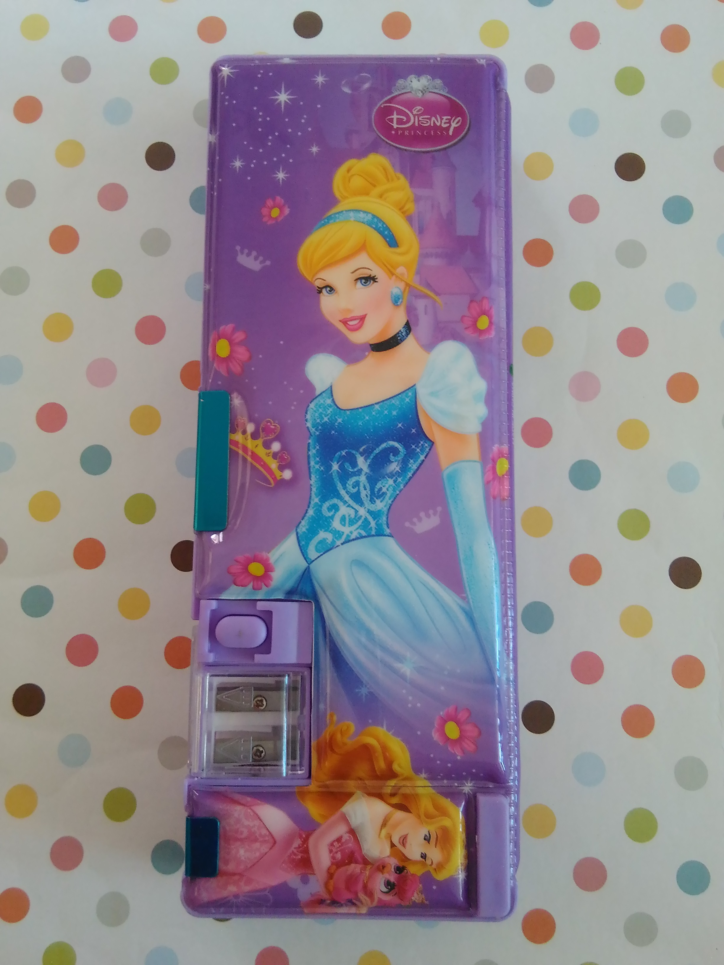 กล่องดินสอแม่เหล็ก เจ้าหญิง princess มีกบเหลาในตัว