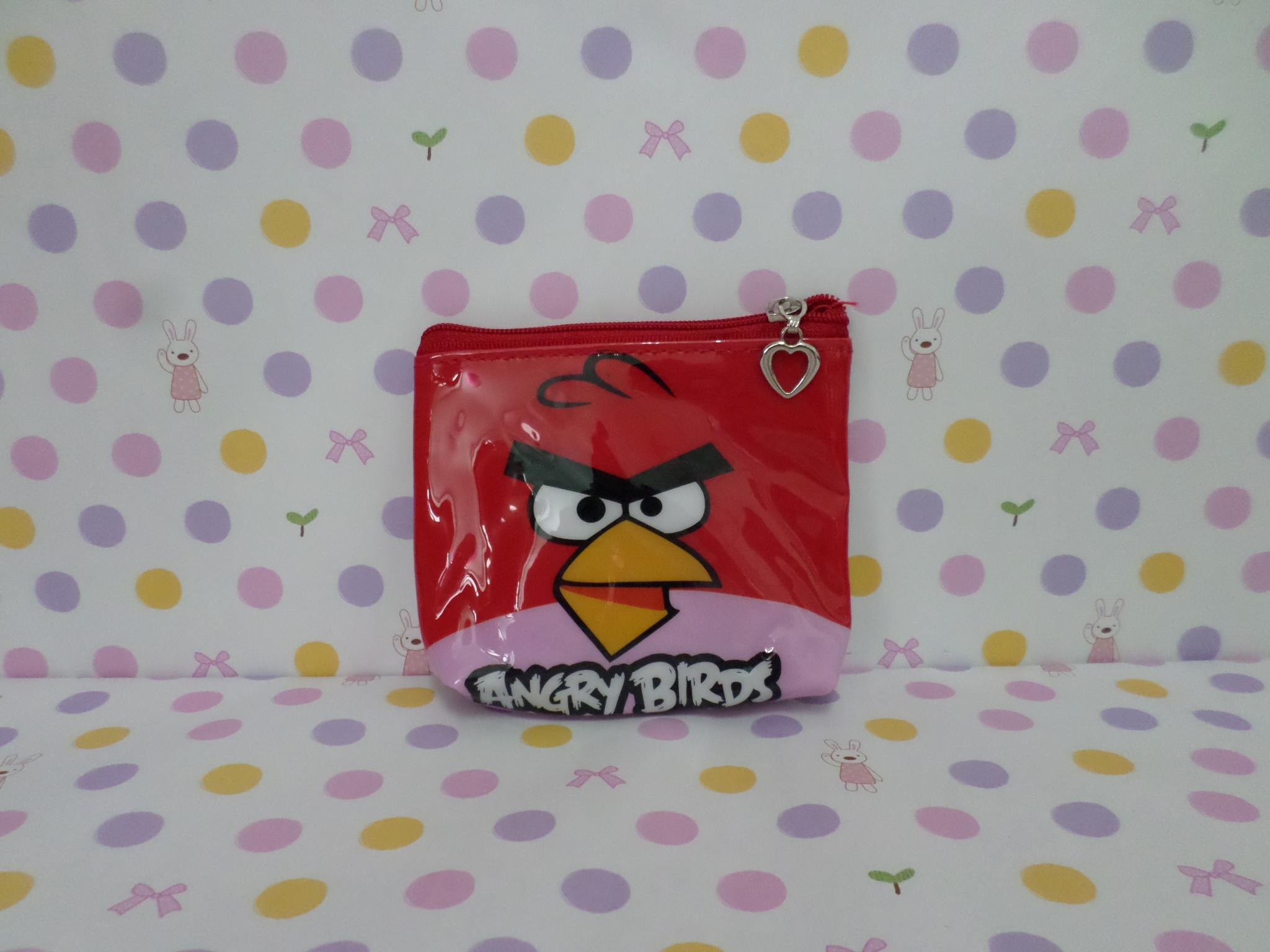 กระเป๋าใส่เศษสตางศ์ใบเล็ก แองกี้เบิร์ด angry bird สีแดง