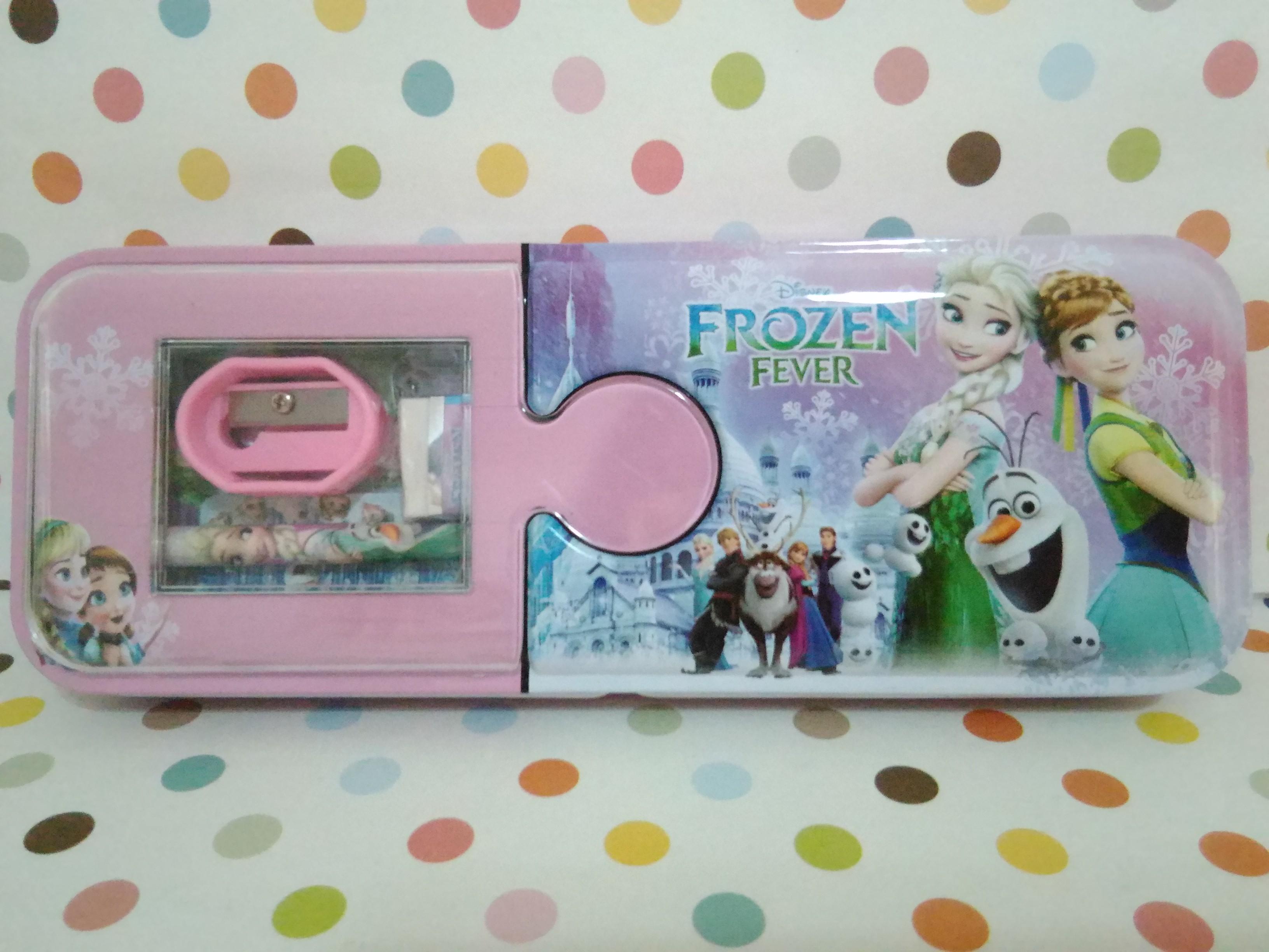 กล่องดินสอเหล็ก โฟรเซ่น Frozen ขนาด 21.5*10.5 ซม.