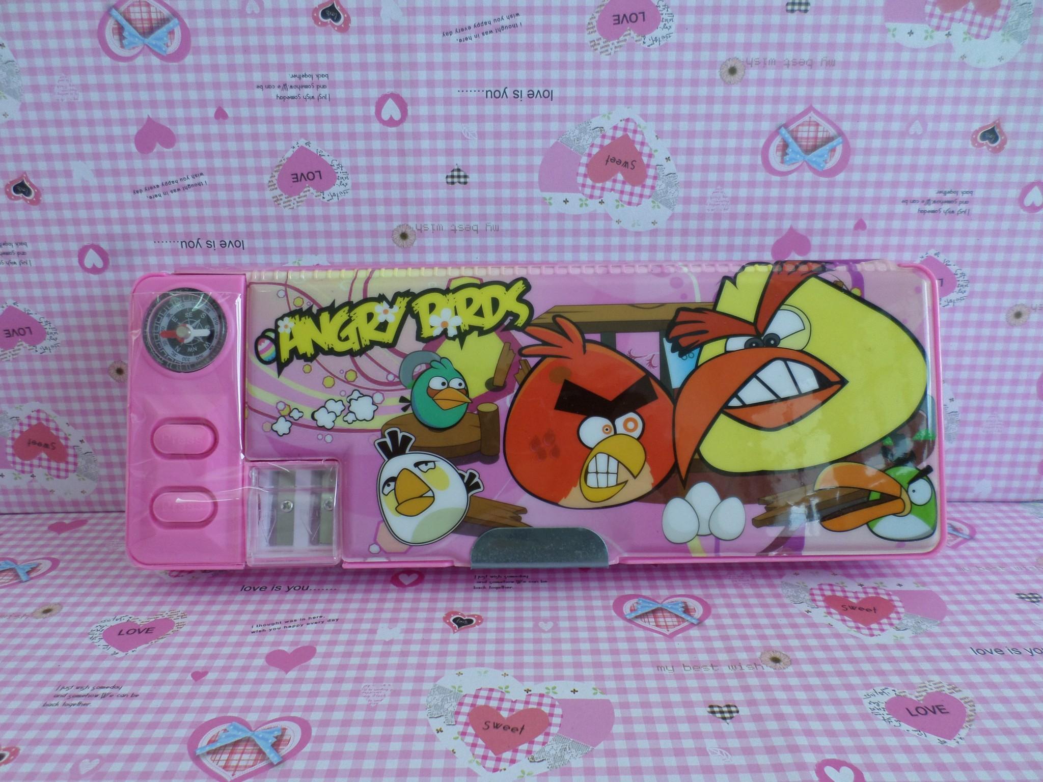 กล่องดินสอแม่เหล็ก แองกี้เบิร์ด Angry bird#2 มีกบเหลาในตัว เปิดปิดได้สองด้าน