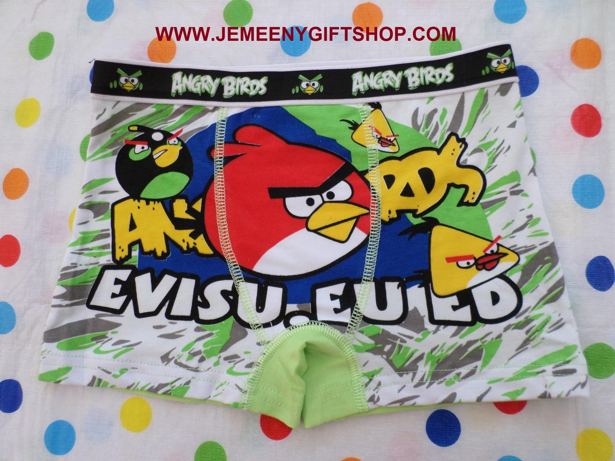 กางเกงชั้นในเด็กผู้ชาย แบบขาสั้น แองกี้เบิร์ด Angry bird