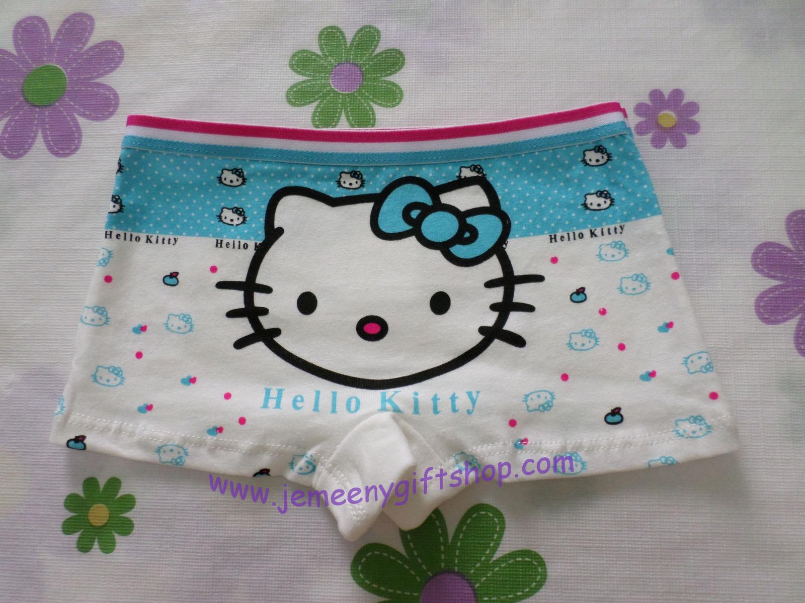 กางเกงชั้นในเด็กแบบขาสั้น ฮัลโหลคิตตี้ Hello kitty#12 size S สำหรับเด็กอายุ 2-4 ขวบ