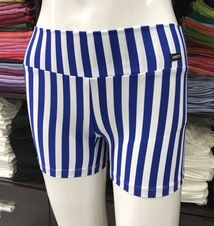 ซับในกางเกงขาสั้น ลายริ้วสีน้ำเงิน/ขาว