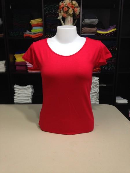 """เสื้อยืดคอกลม สีแดง size """"M"""""""