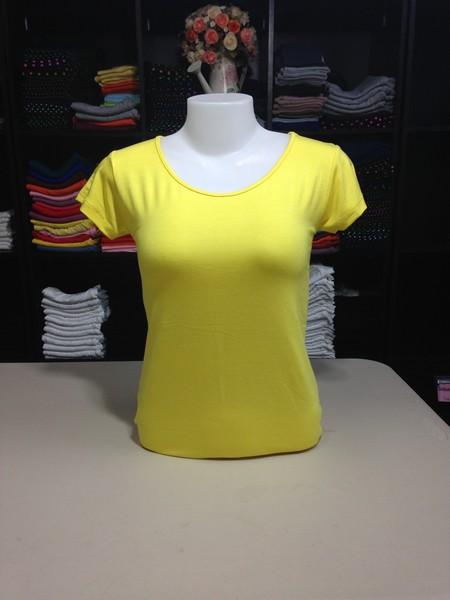 """เสื้อยืดคอกลม สีเหลืองดอกคูณ size """"M"""""""