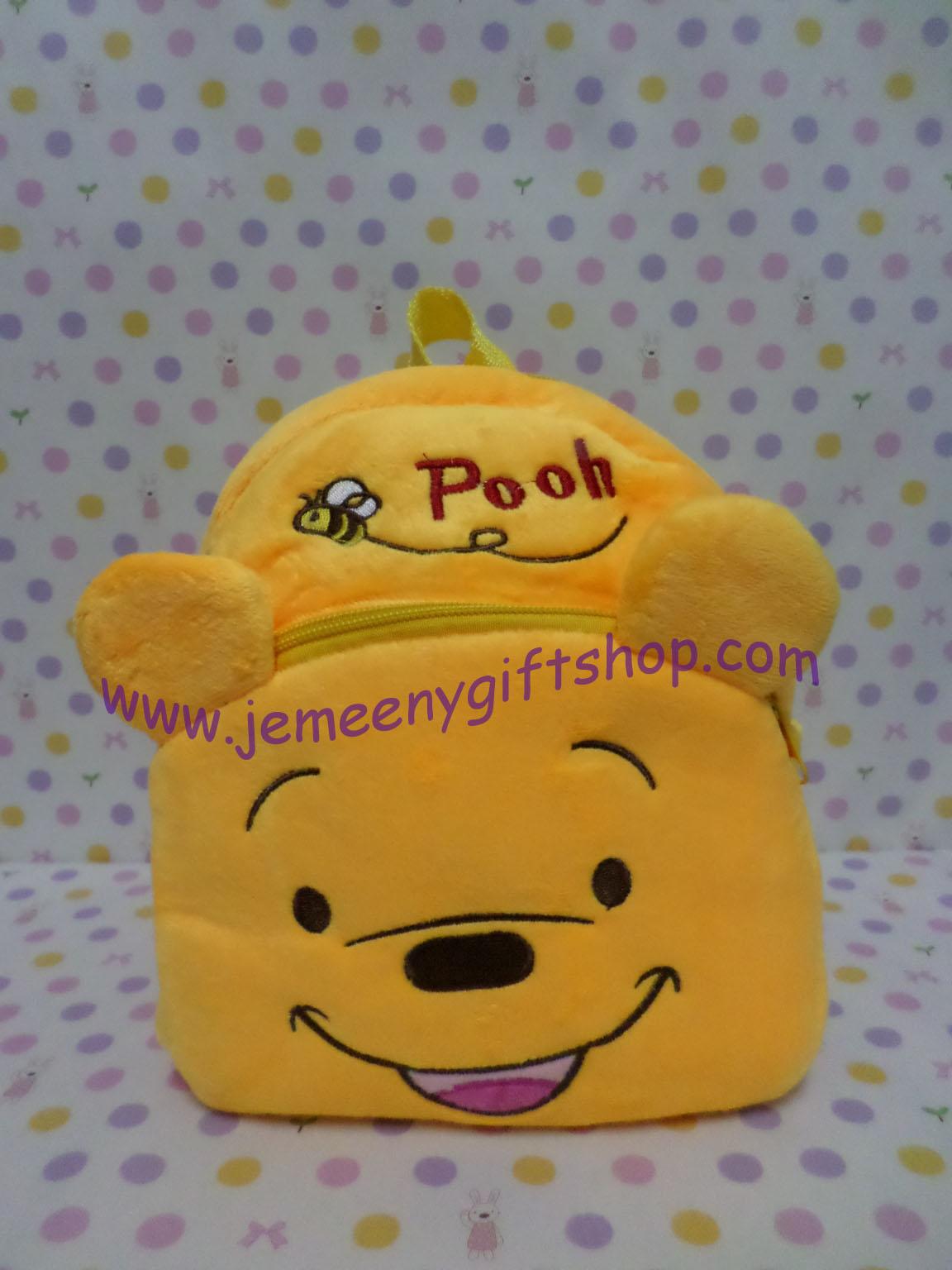 กระเป๋าเป้สะพายหลังใบเล็กจิ๋ว หมีพูห์ Pooh ขนาดกว้าง 5 ซม * ยาว 22 ซม * สูง 22 ซม สำหรับเด็กเล็ก 2-3 ขวบ