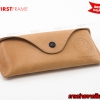RAYBAN REAL LEATHER CASE - LIGHT BROWN