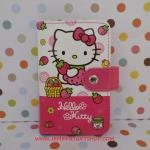 กระเป๋าใส่บัตร บัตรต่างๆ ฮัลโหลคิตตี้ Hello kitty ขนาดยาว 9 ซม. * สูง 12 ซม. ลายคิตตี้สตรอเบอรี่ สีชมพู