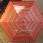 ร่มกันฝน COACH VARIEGATED STRIPE MINI UMBRELLA F69721 ลายสดใส น่ารักๆค่ะ สีโอรส Coral